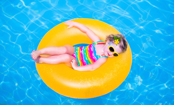 Toddler Girl on Floatie